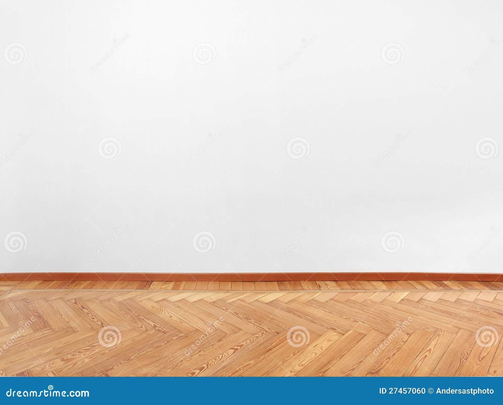 parquet et mur blanc vide photo stock image du fonc 27457060. Black Bedroom Furniture Sets. Home Design Ideas