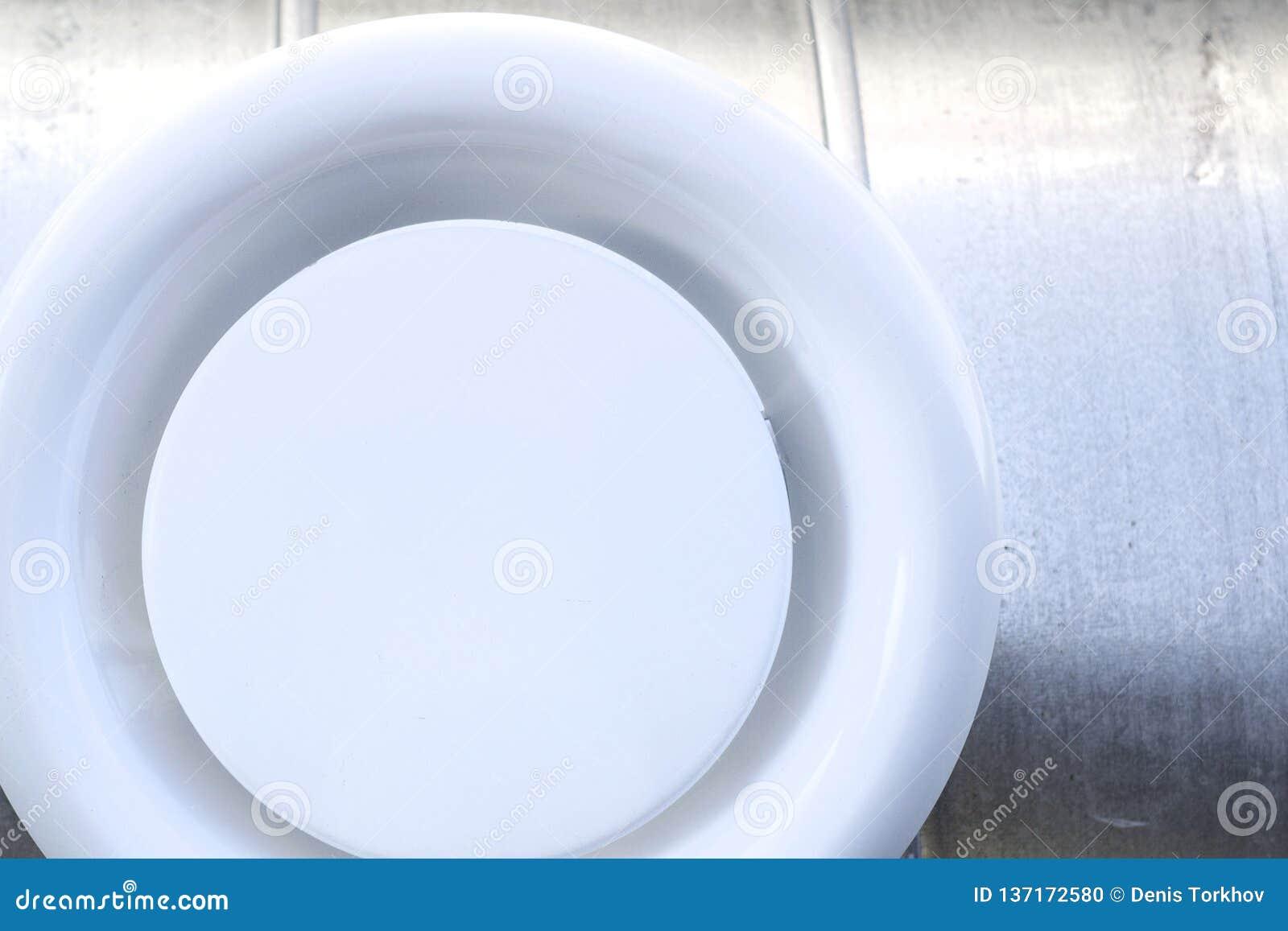 Parrilla de aire en un conducto circular