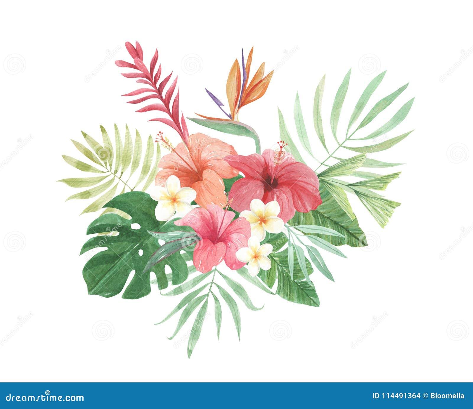 Tropical Floral Tumbler Tropical Flower Arrangement Tropical Tumbler Hibiscus Flowers Aloha Tumbler