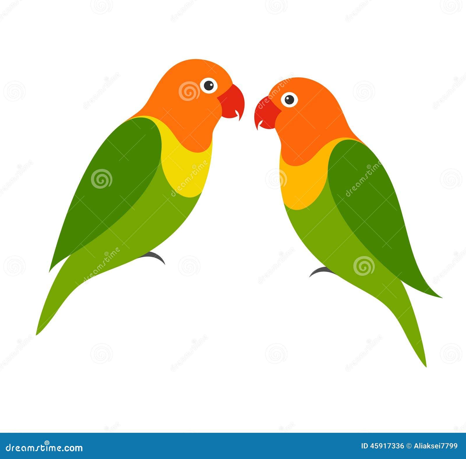 parrot lovebird stock vector illustration of tropical 45917336 rh dreamstime com love bird tree clipart love bird tree clipart
