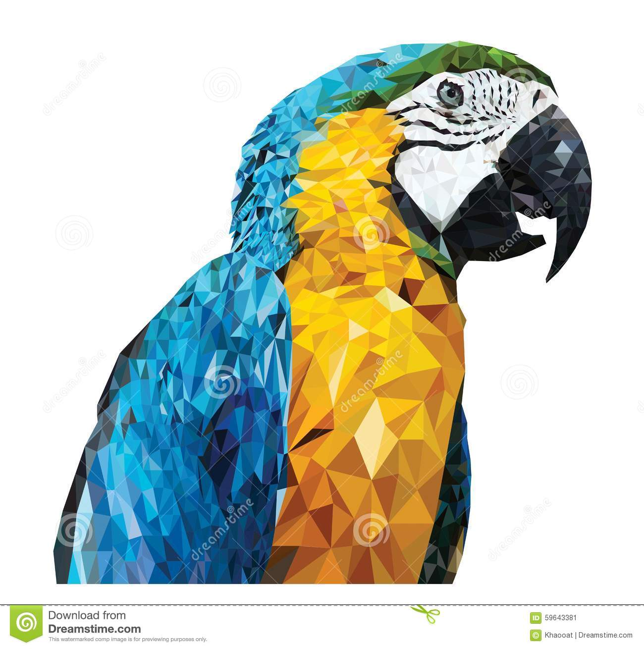 Parrot_Low poly design