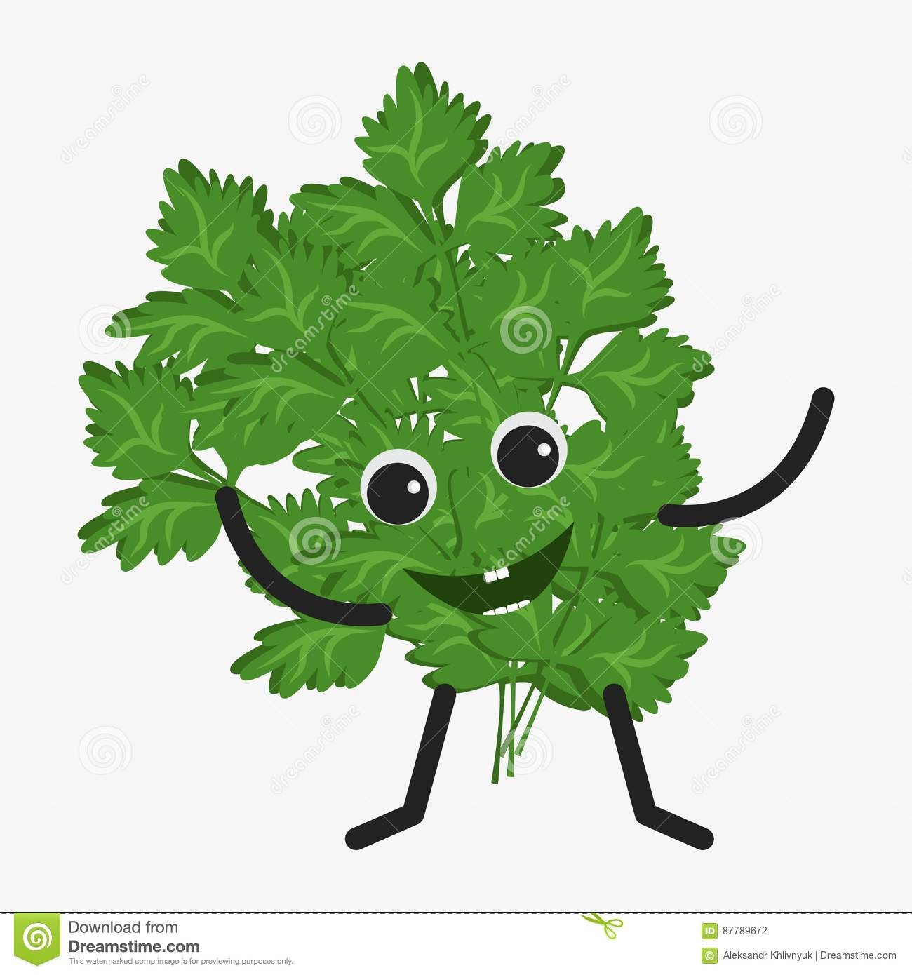 Parsley Character Icon Royalty Free Illustration