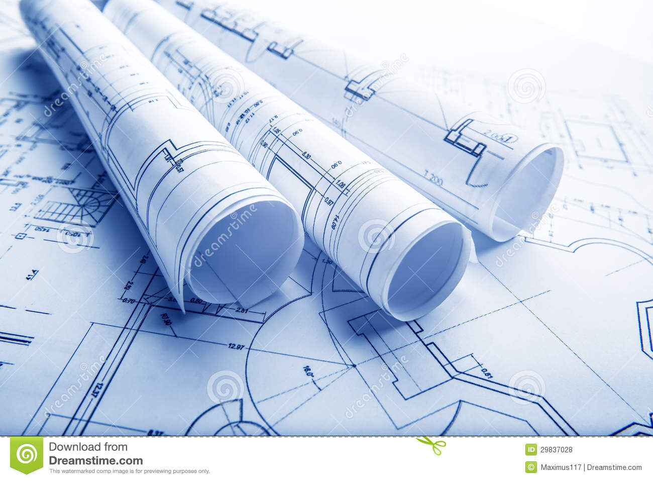 Architectural project construction plan blueprint for Architecture blueprint