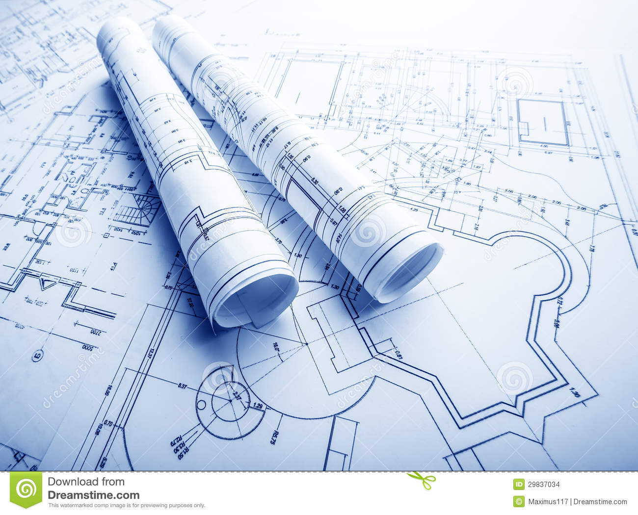 part of architectural project stock photo