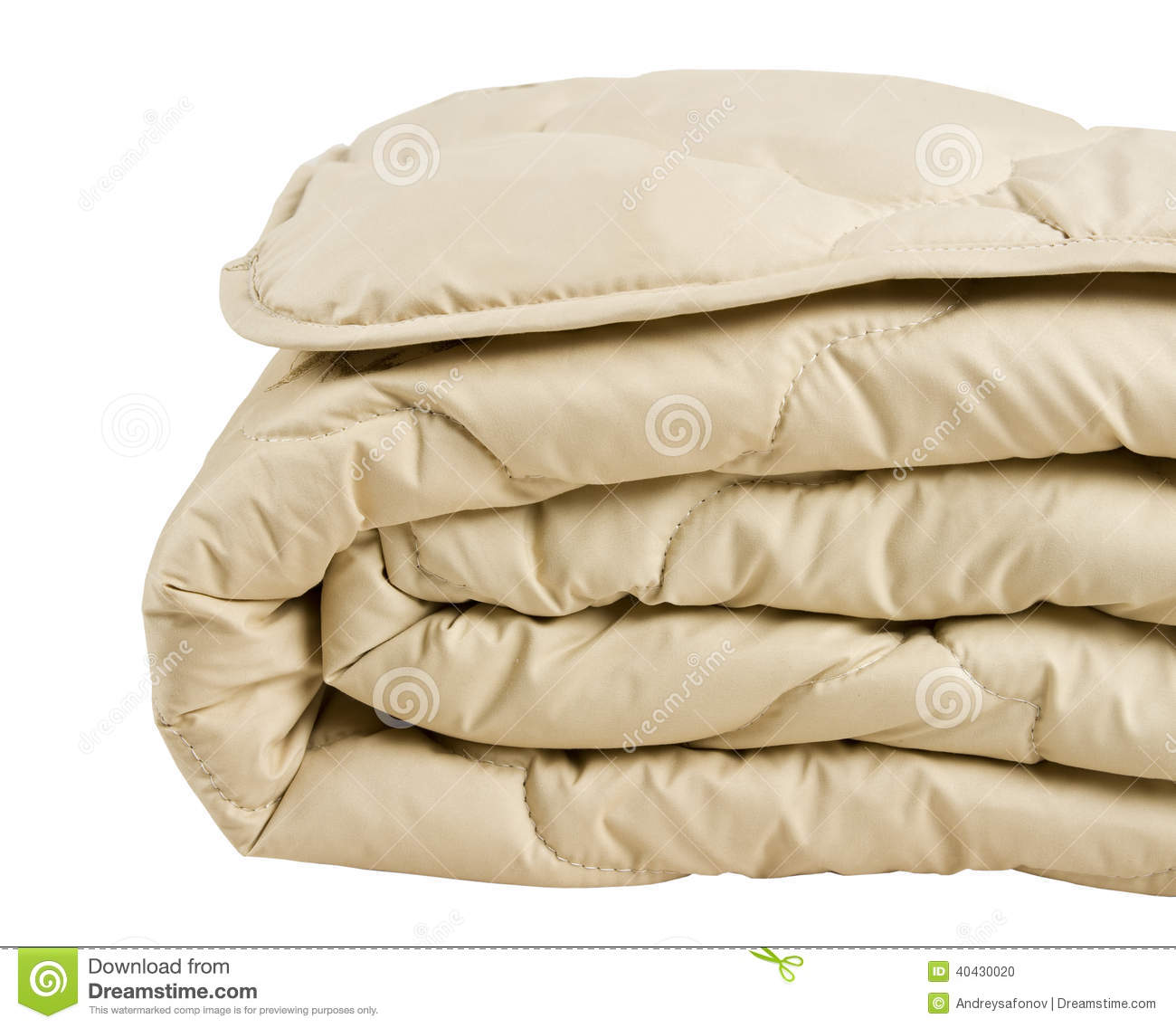 Part of beige blanket isolated on white background