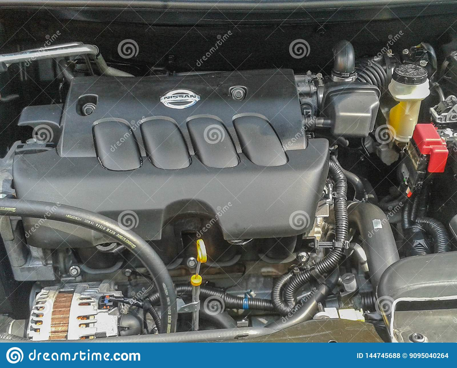 Part of the car engine.