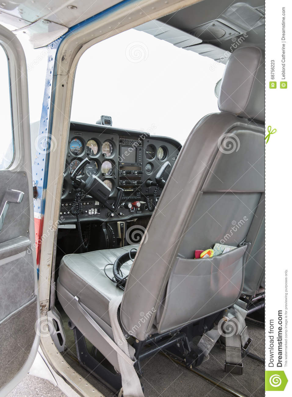 Part of cessna 172 plane stock image. Image of private ...