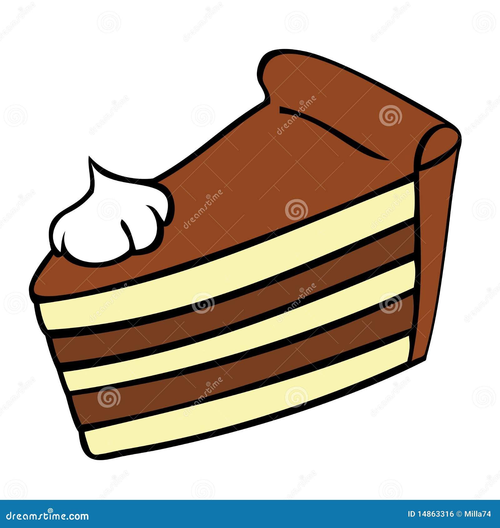 Part De Gateau De Chocolat Illustration De Vecteur Illustration