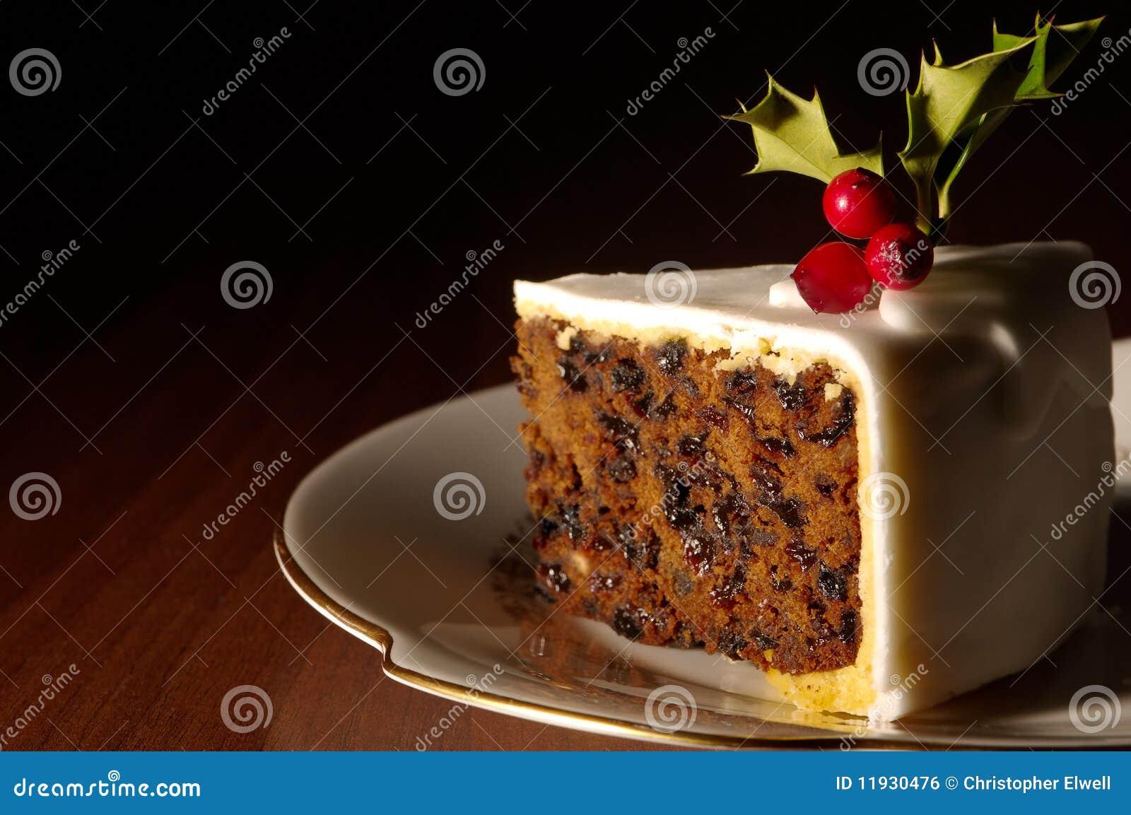 Part de gâteau de Noël