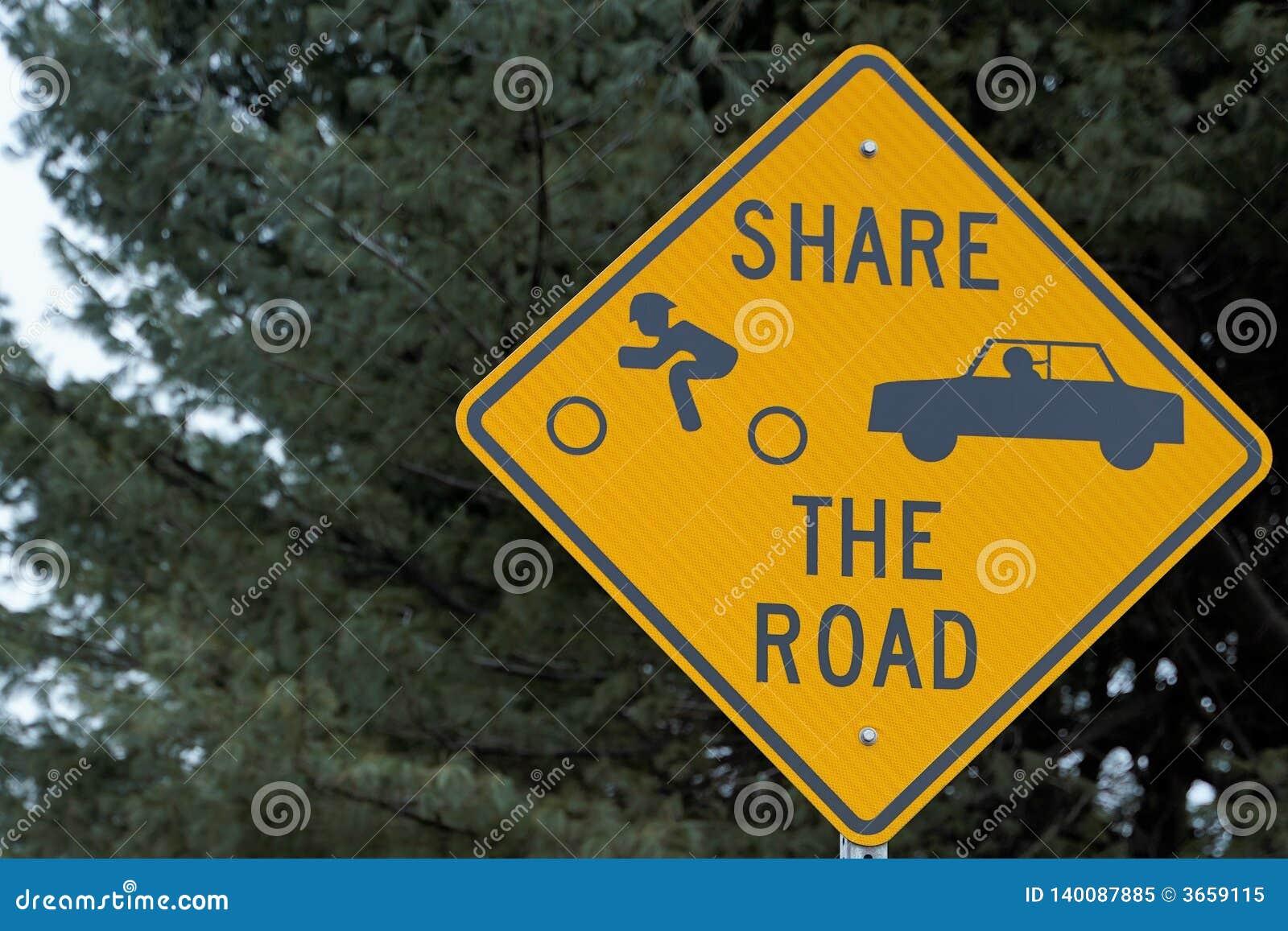 Part de signe la route
