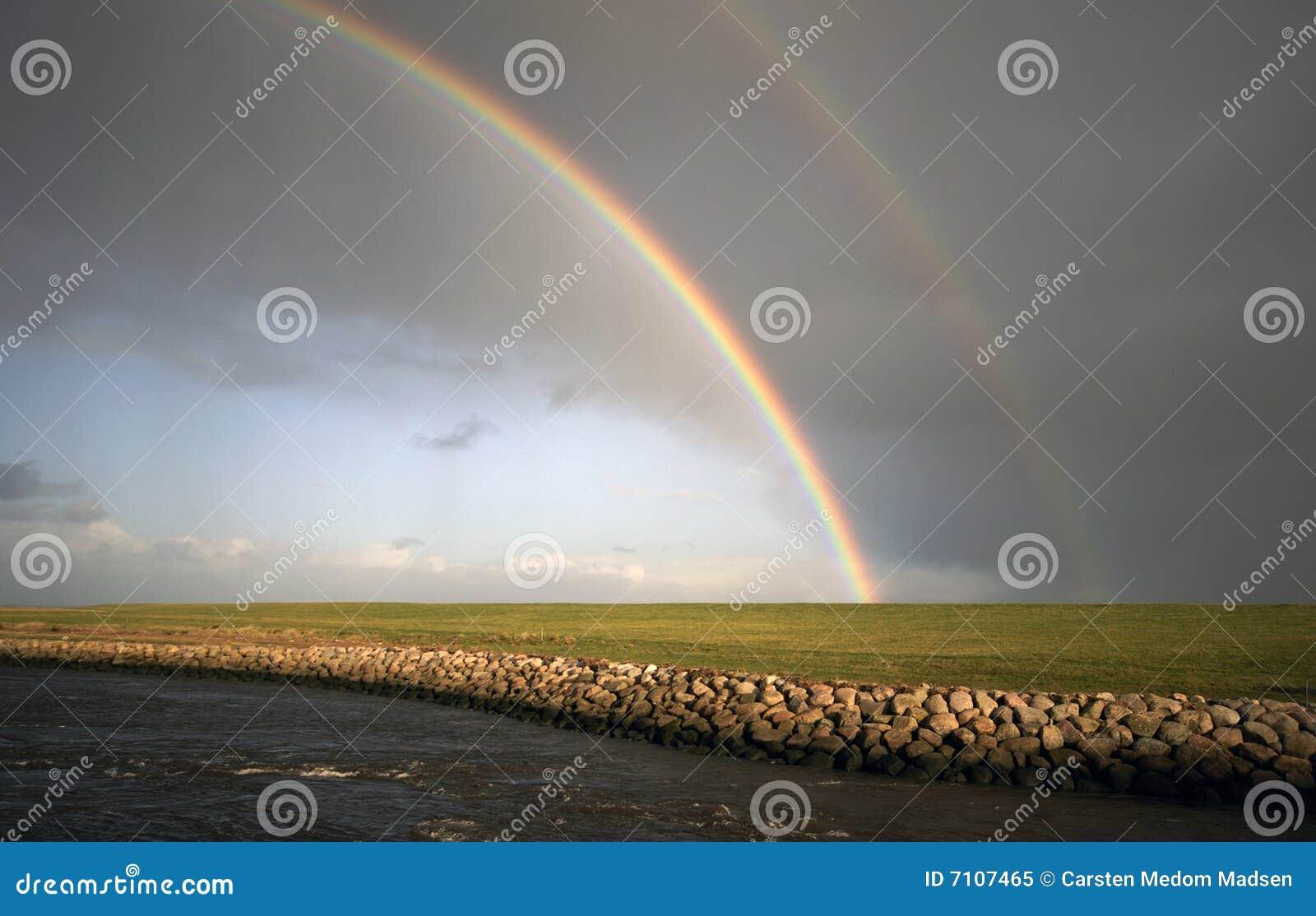 part of double rainbow royalty free stock photo image