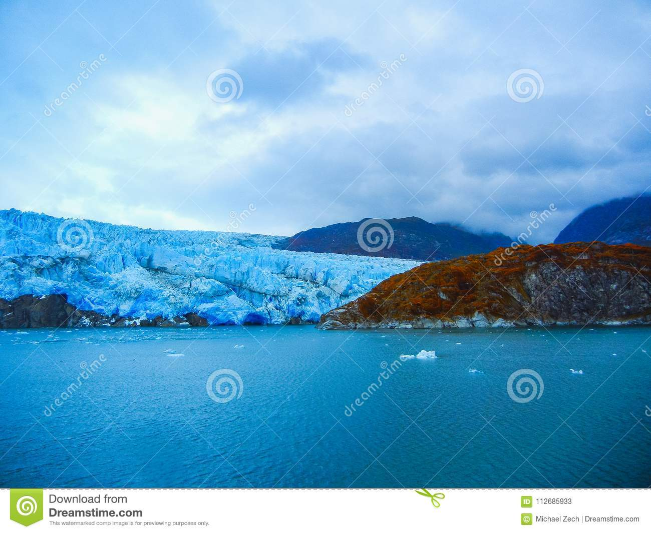 Part Of The Glacier In The Bernardo O Higgins National Park Chile Stock Image Image Of Global Patagonia 112685933