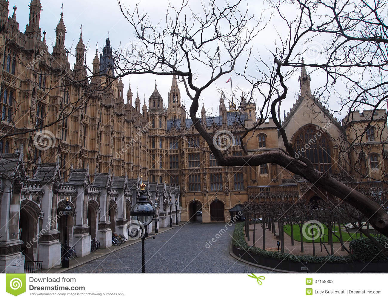 Part Of The House Of Parliament London Editorial Stock Photo