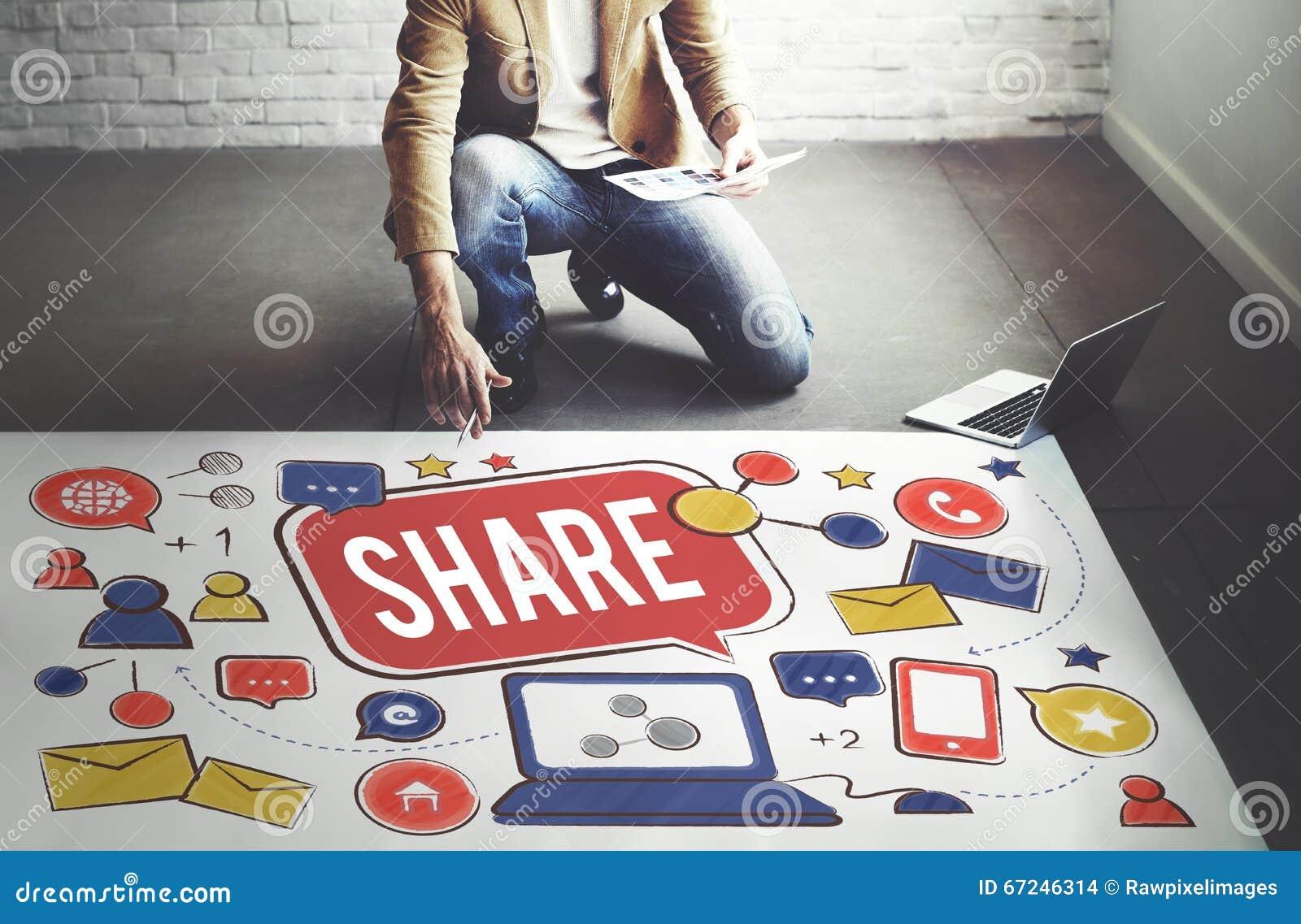 Part partageant le concept de rétroaction de connexion de media de partie