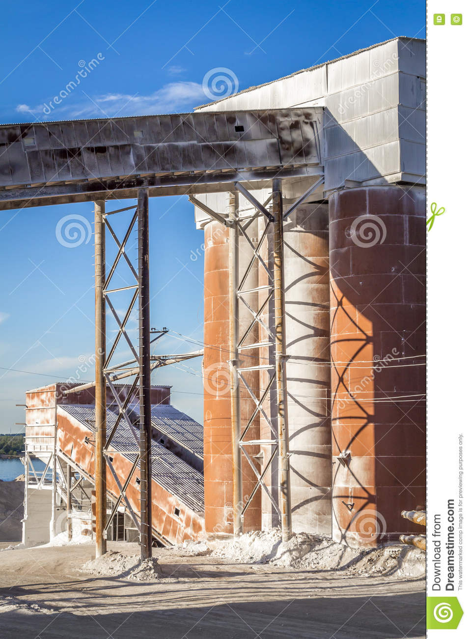 Part Of A Small Cement Factory Stock Image