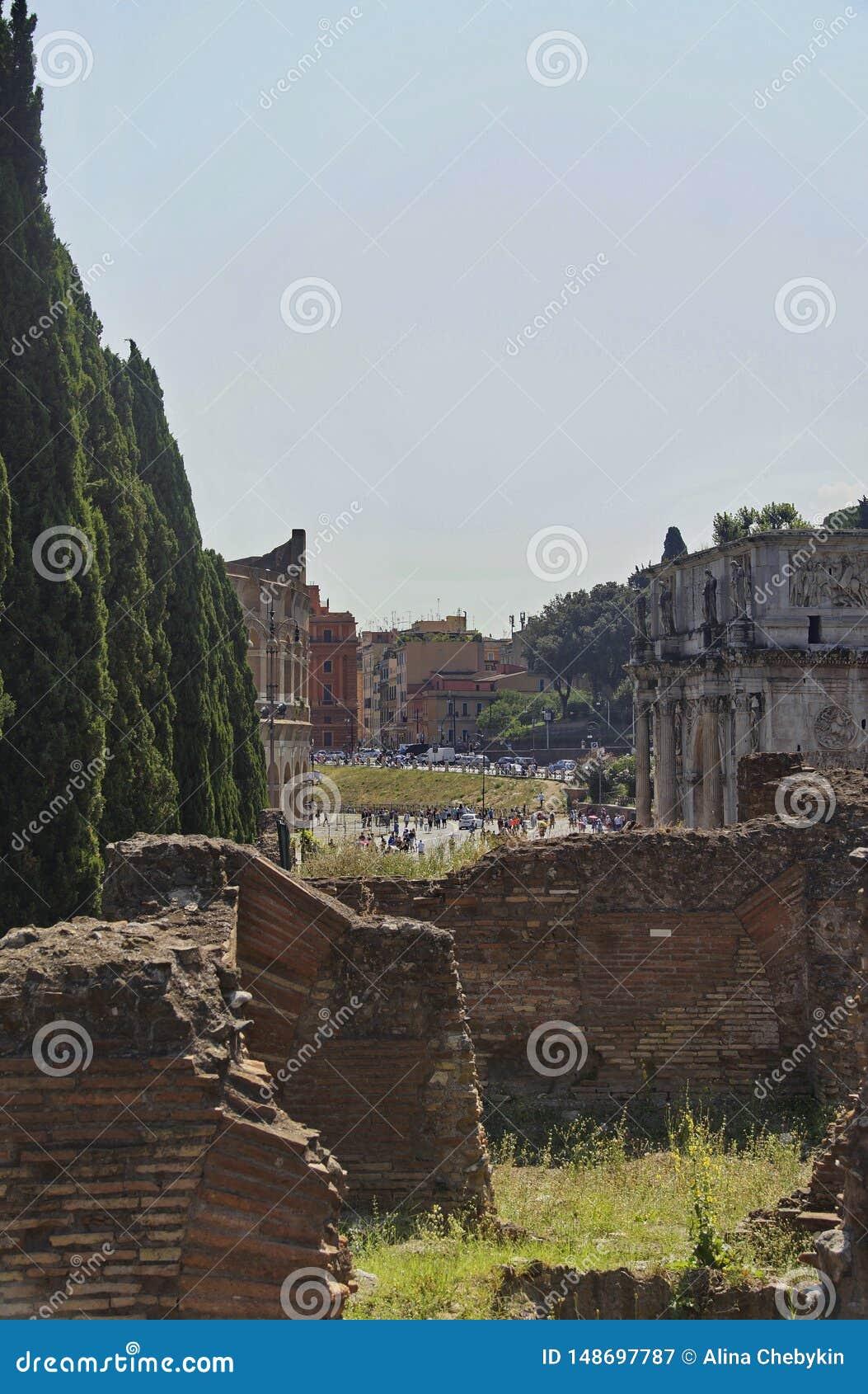 Part of Sostruzioni della Terrazza, Rome, Italy, summer