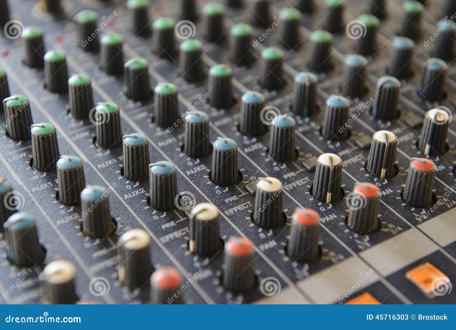 part sound board mixer stock image image of dance jockey 45716303. Black Bedroom Furniture Sets. Home Design Ideas
