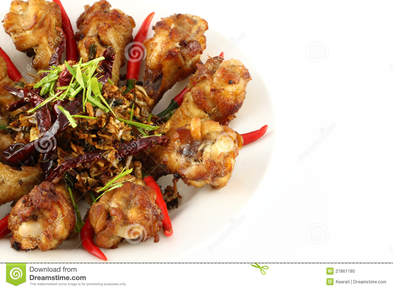 Part Of Spicy Herb Fried Chicken Stock Photo - Image: 21861180