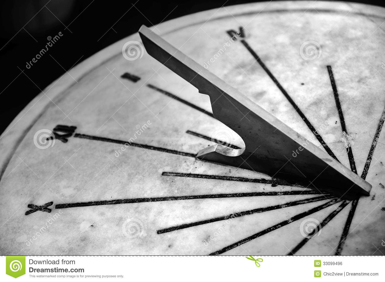 Forged Parts Black And White : Part or sundial royalty free stock image