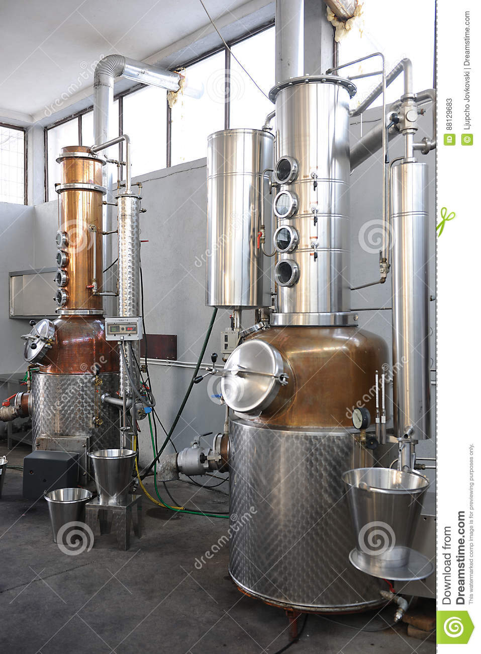 Part of the technology of producing brandy