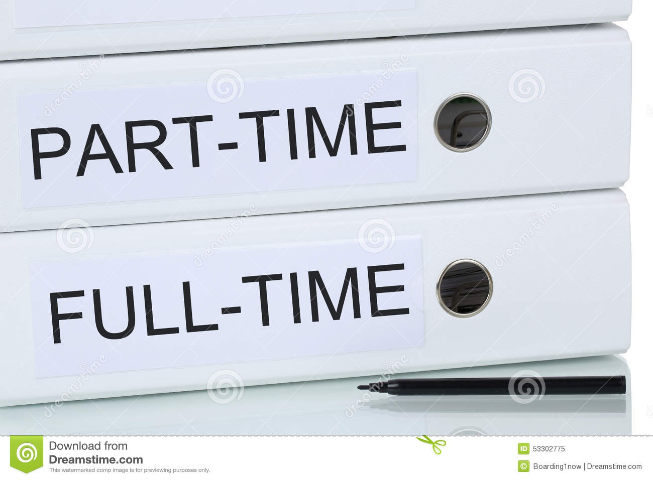 Part-time And Full-time Job Business Concept Stock Image