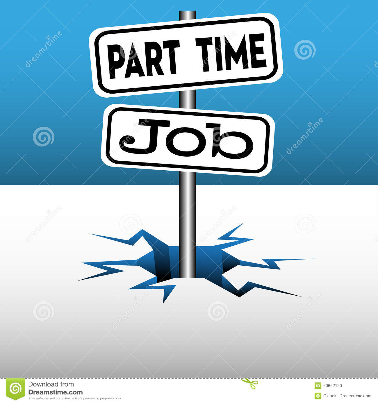 Part Time Job Stock Vector - Image: 60662120