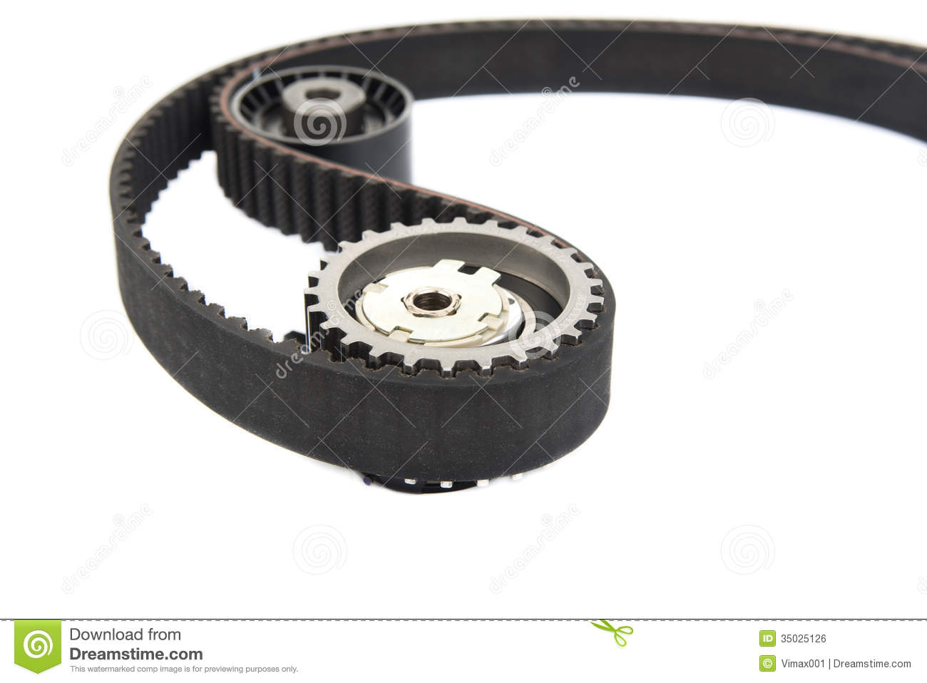 Part of timing belt, spare parts