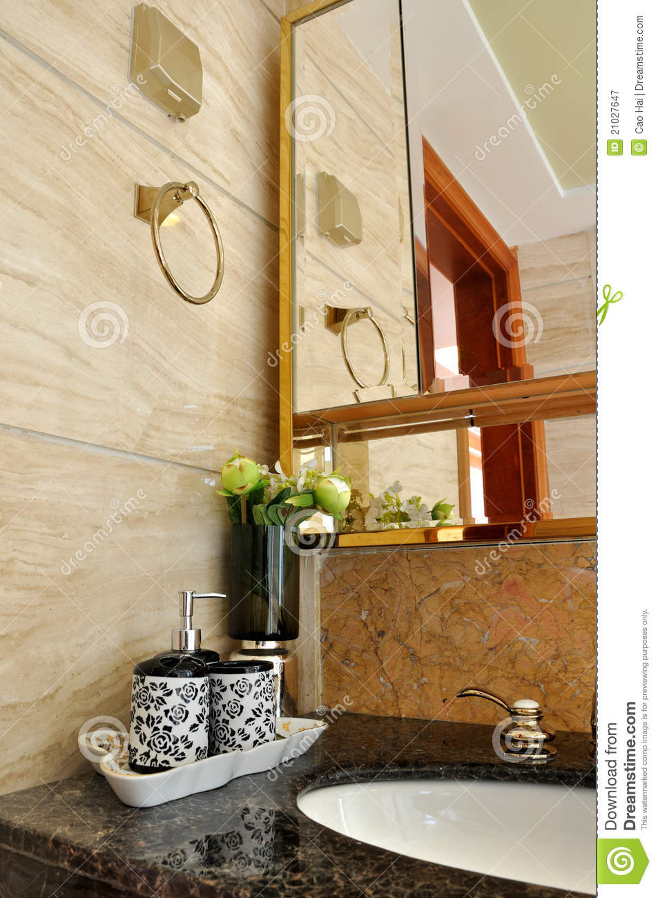 Part Of Washroom Interior Royalty Free Stock Photography