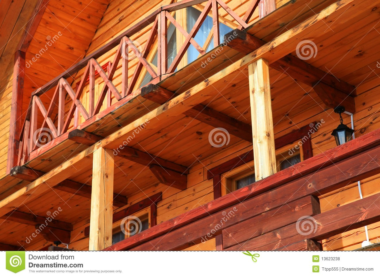 Part of wooden house