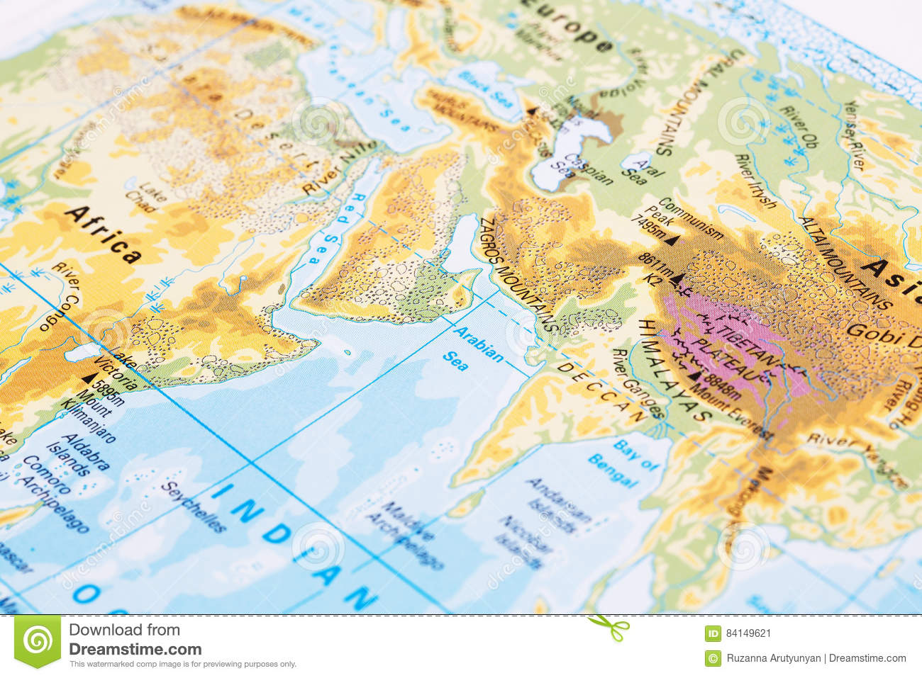 Picture of: Part Of The World Map Stock Image Image Of Europe Green 84149621