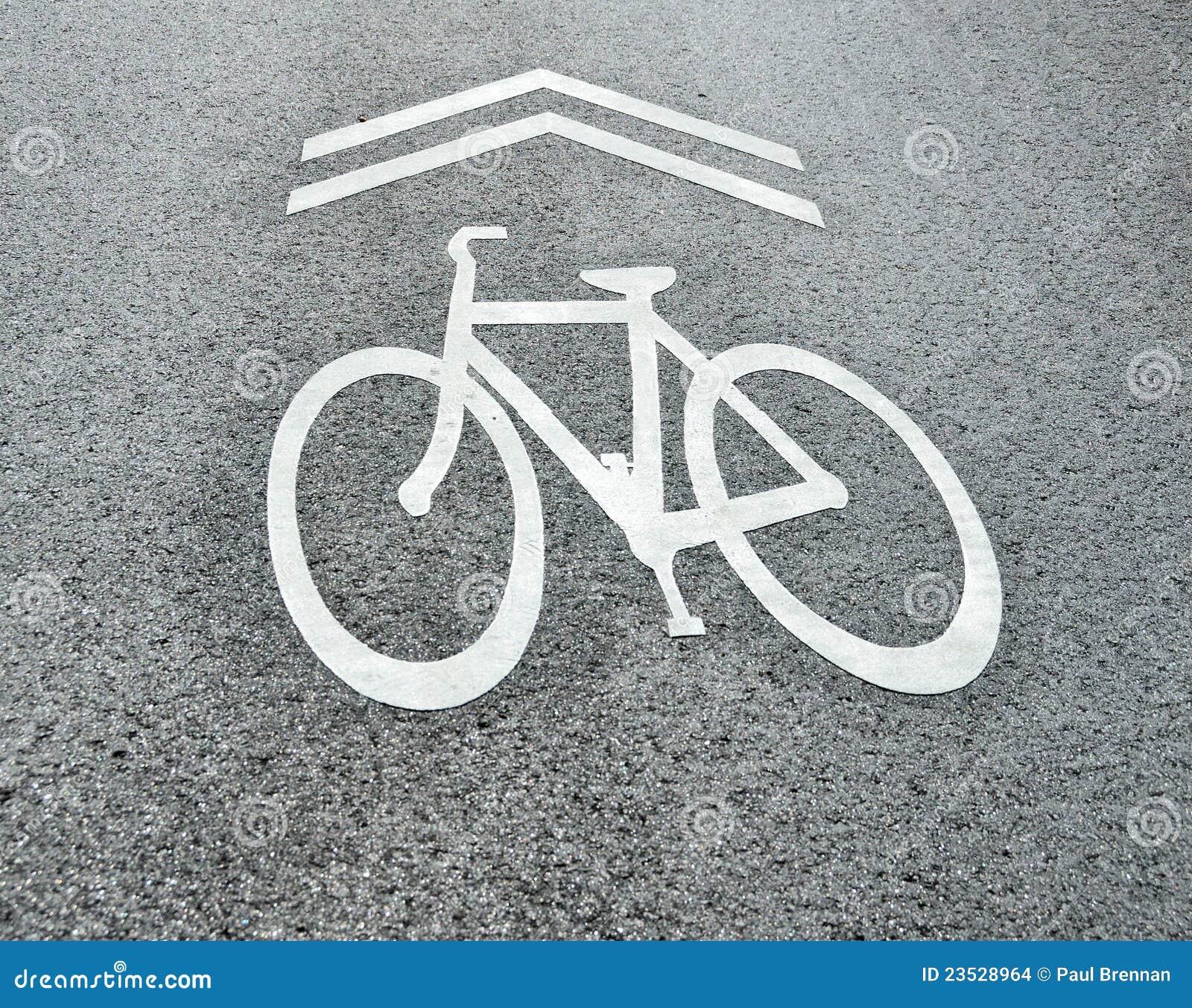 Partagez le signe de bicyclette de route