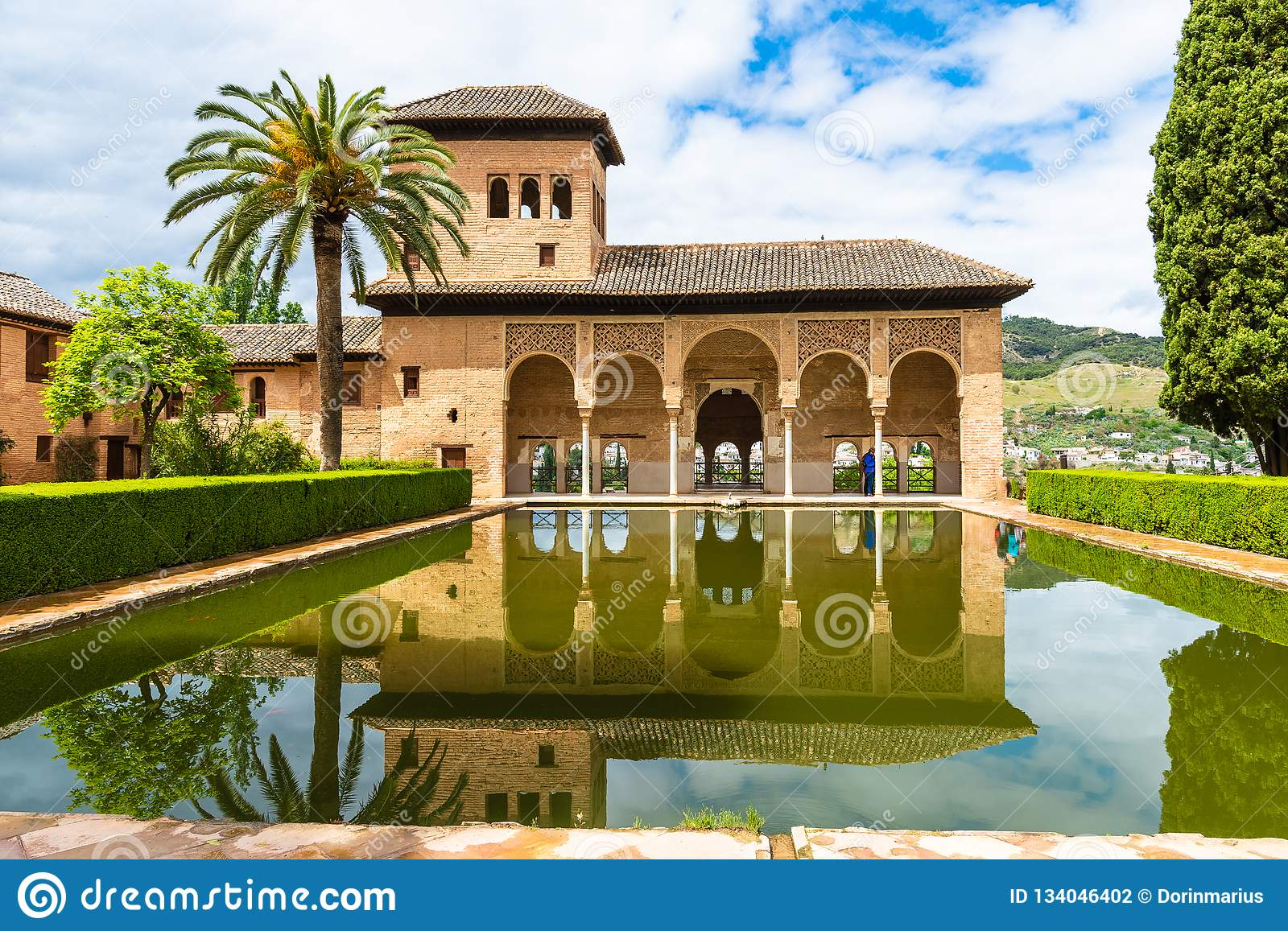 The Partal garden and pool, Alhambra Palace, Granada, Spain