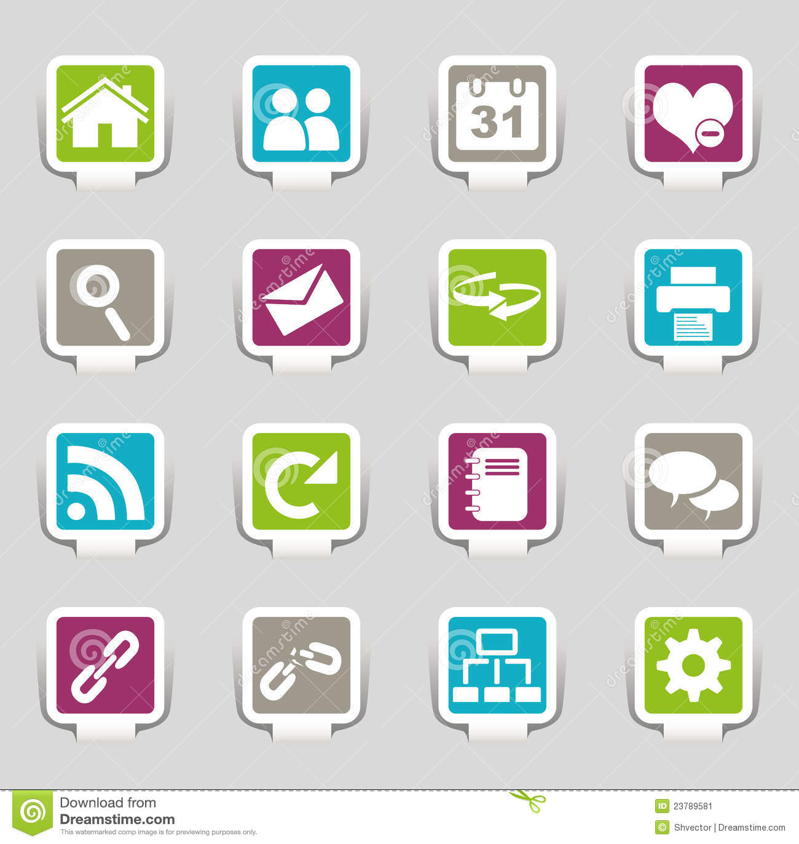 Parte 1 de los iconos del Web