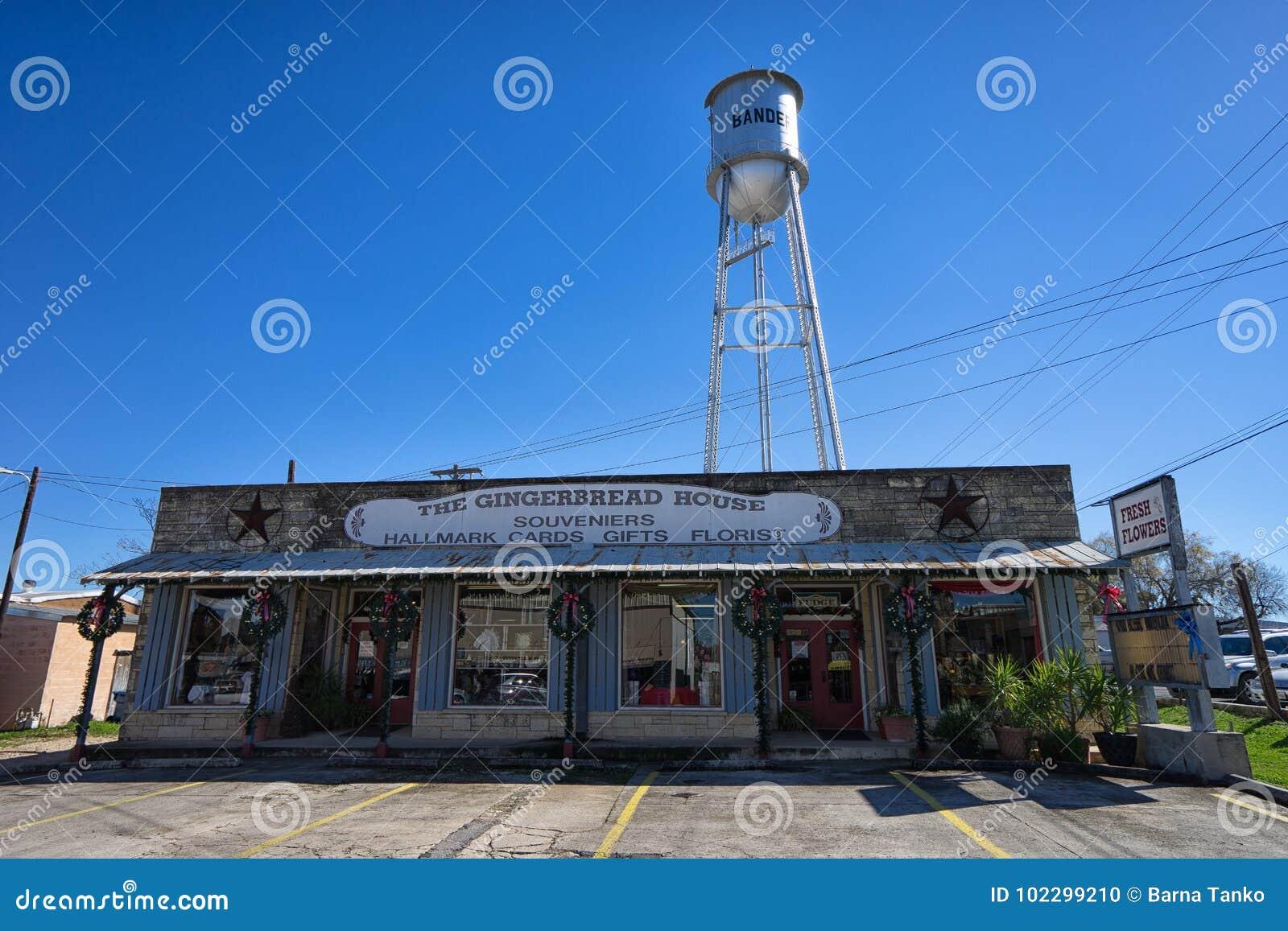 Parte anteriore Bandera il Texas del deposito del ricordo