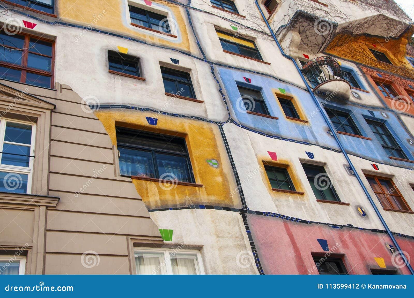 Parte da casa de Hundertwasser em Viena