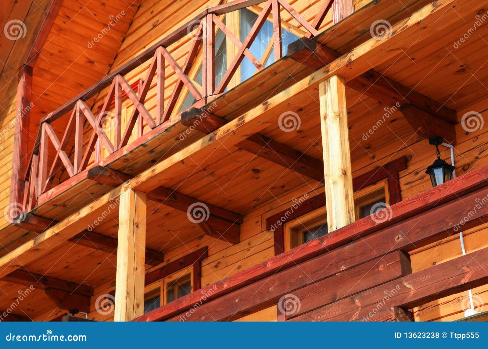 Parte da casa de madeira