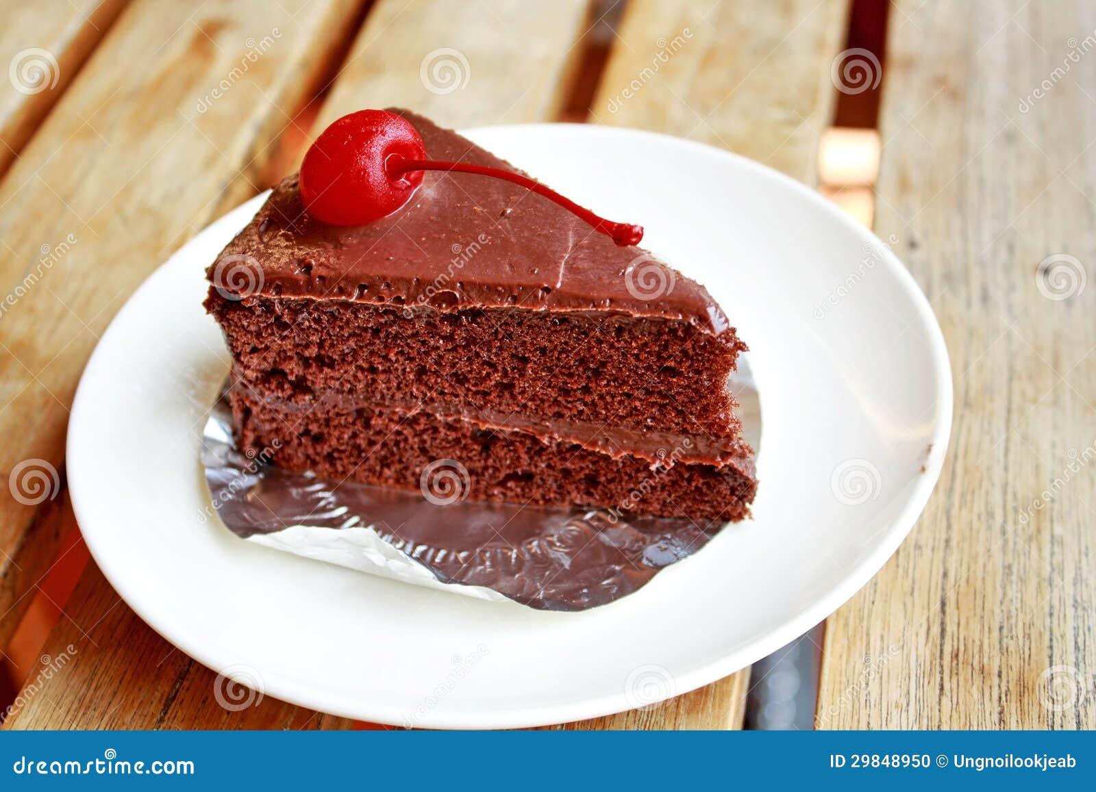 Parte de bolo de chocolate