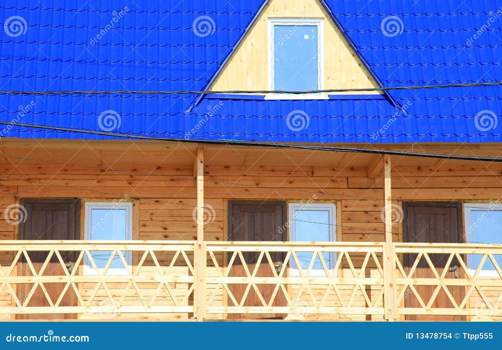 Parte de la casa de madera