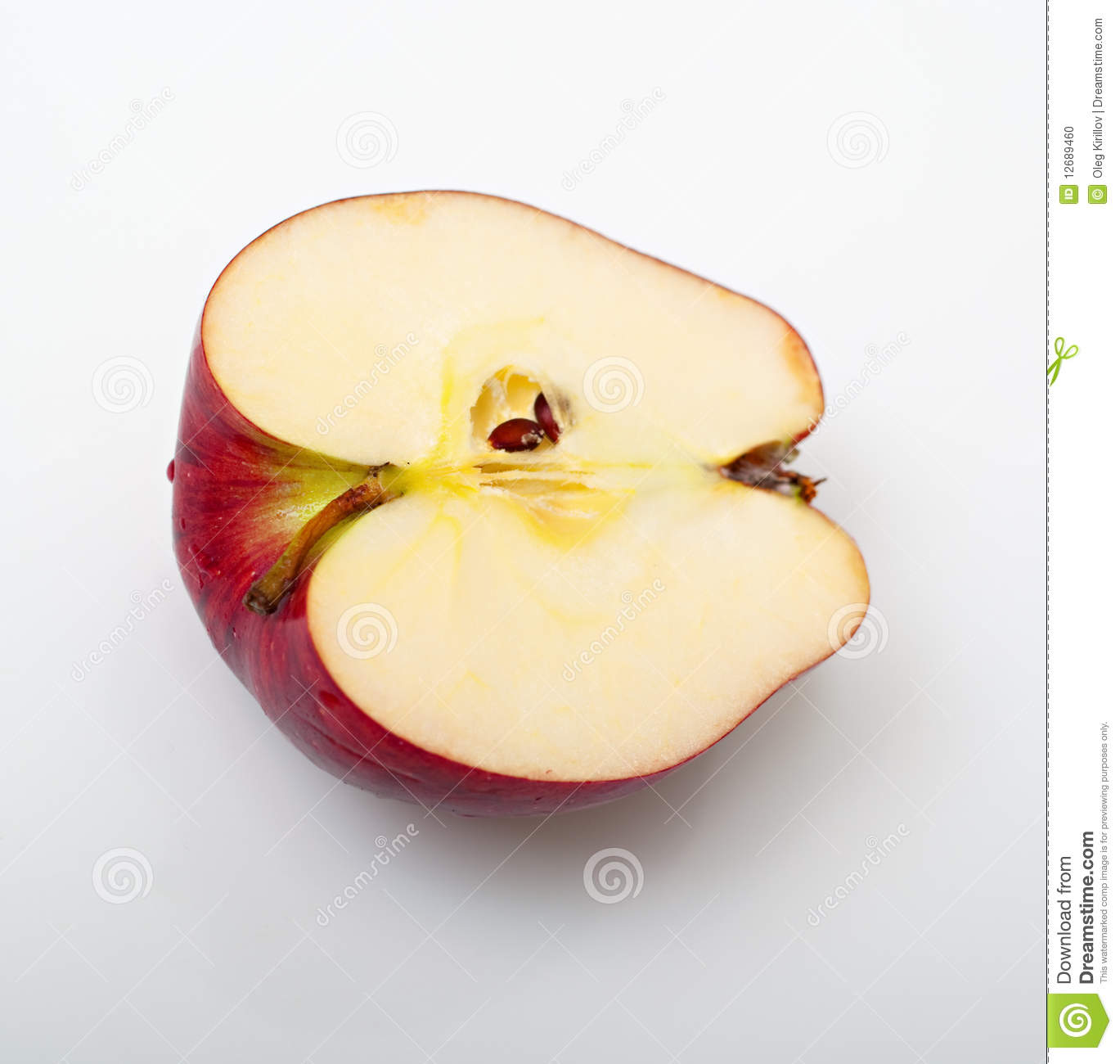 how to cut an apple unevenly