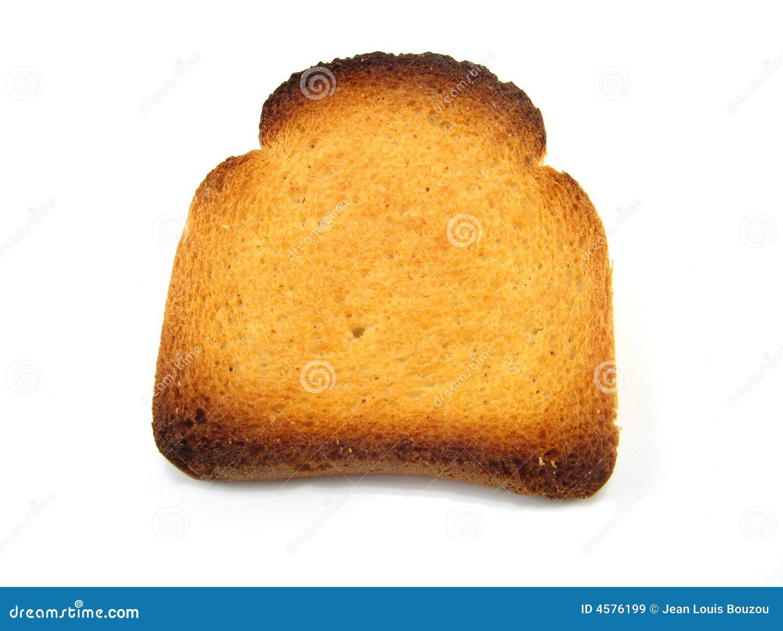 Parte de la tostada de melba