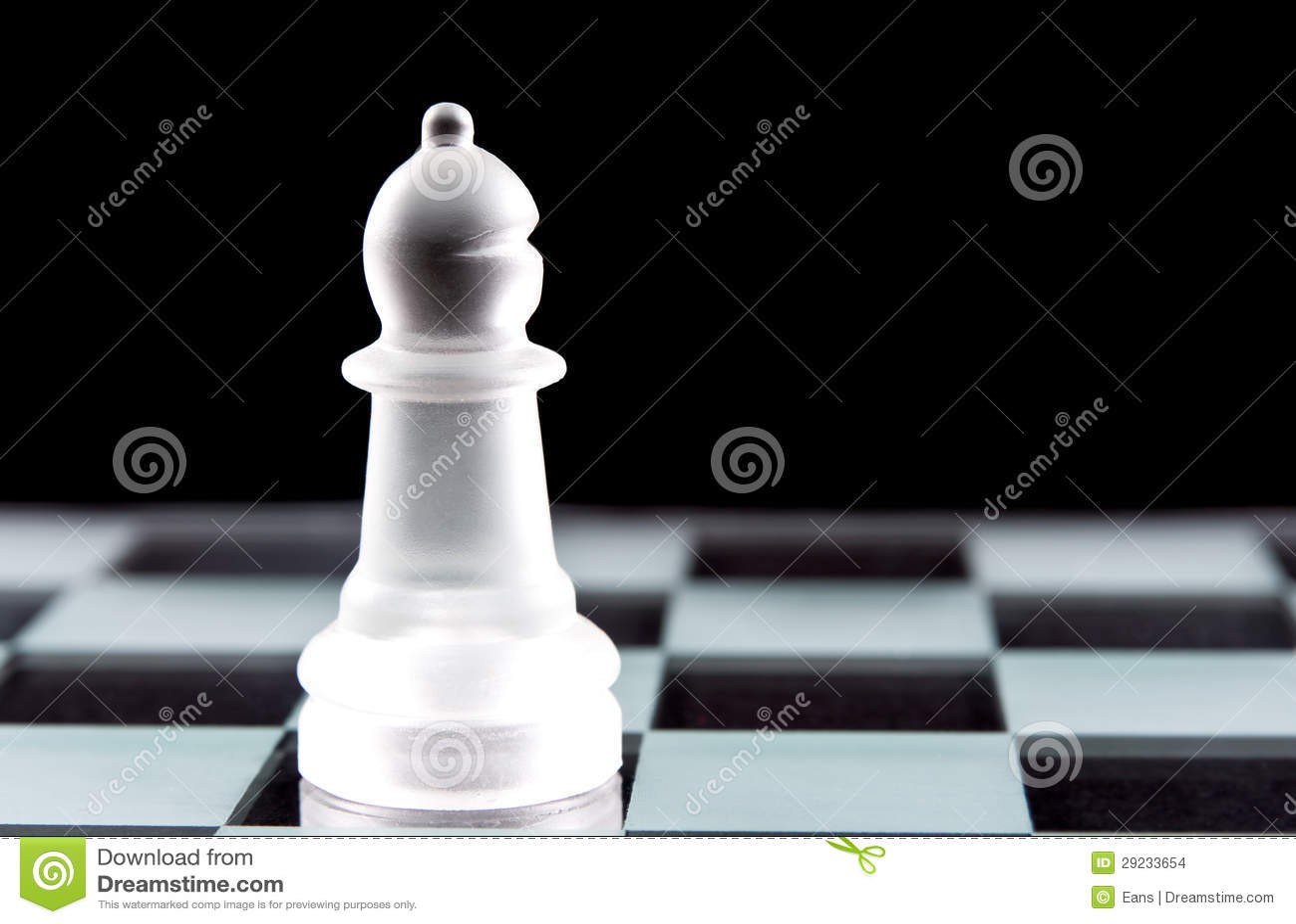 Download Parte de xadrez do Bishop foto de stock. Imagem de vidro - 29233654