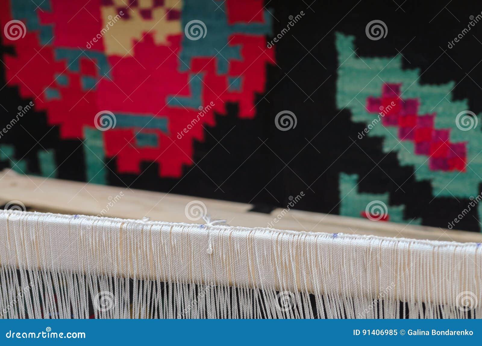 Parte del fondo della coperta fatta di lana e degli orditi for Planimetrie della coperta