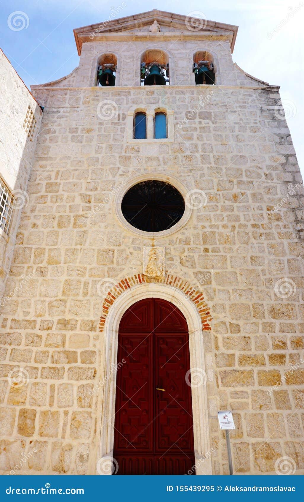 Parte del monastero del benedettino della margarita del san nella città del PAG, sull isola croata del PAG