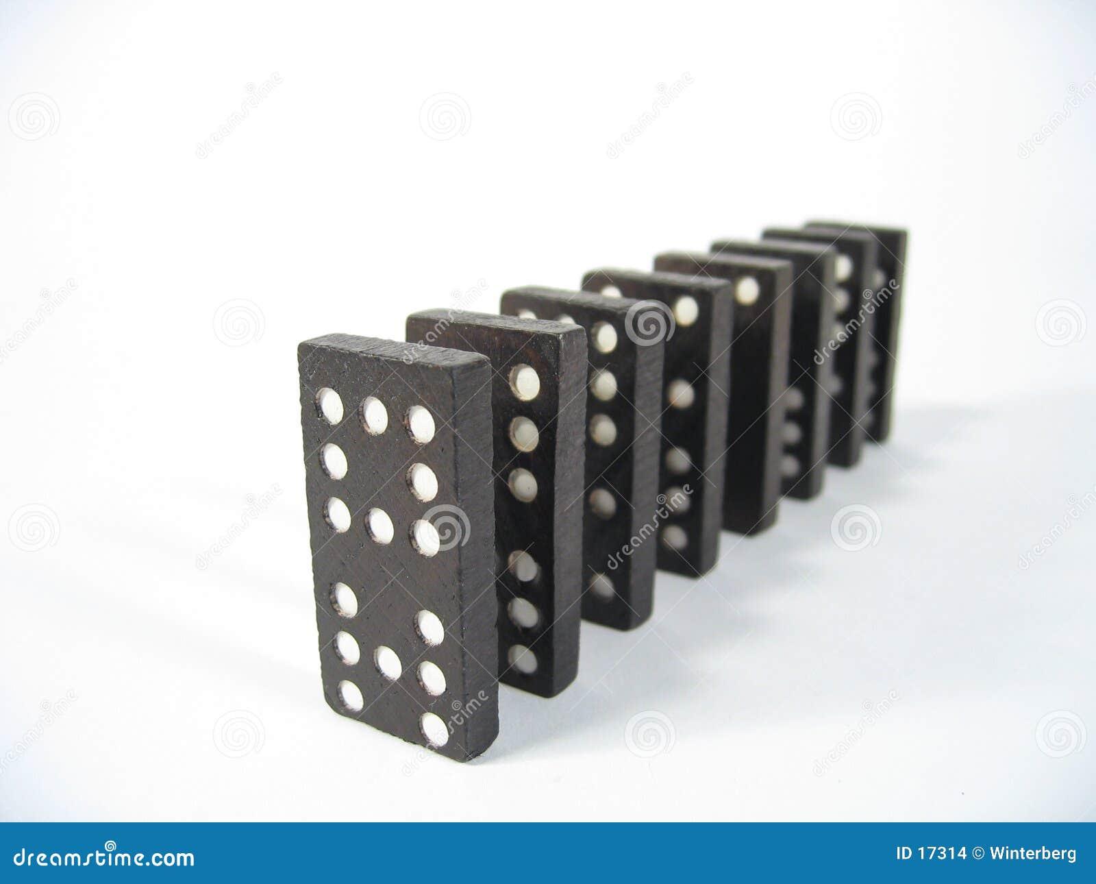 Parte dianteira da fileira do dominó