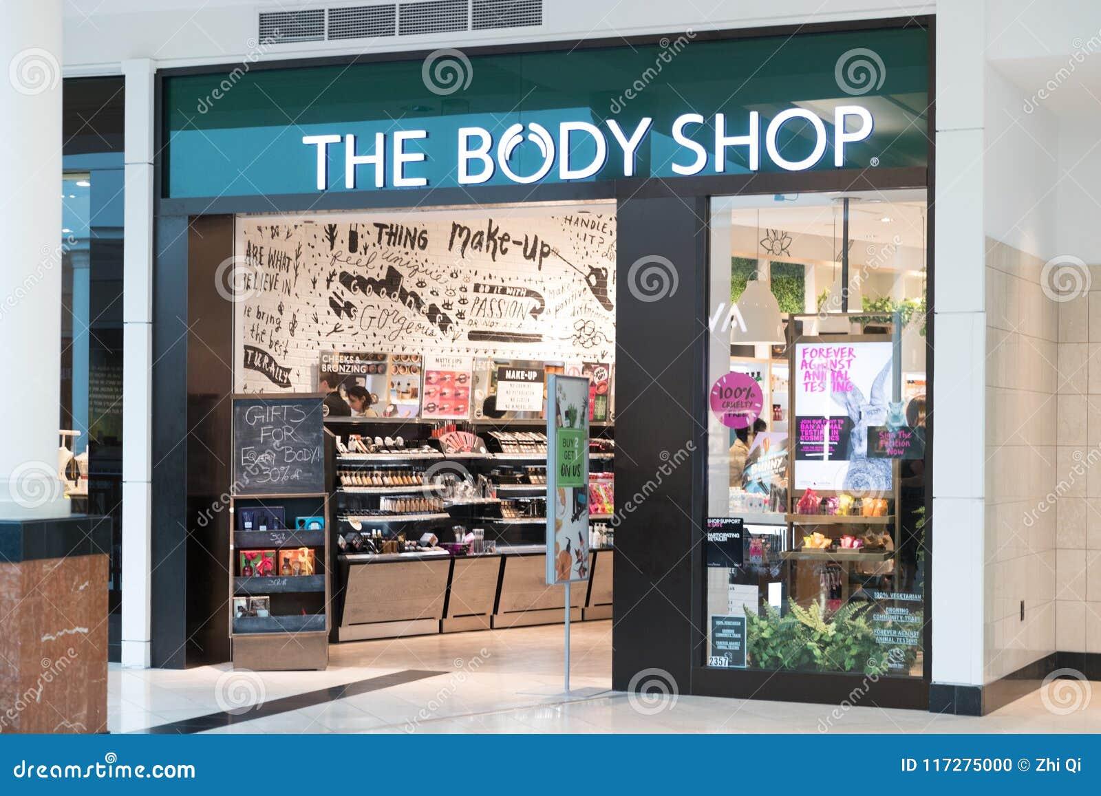 327cc6238 A Parte Dianteira Da Loja De Body Shop Imagem Editorial - Imagem de ...