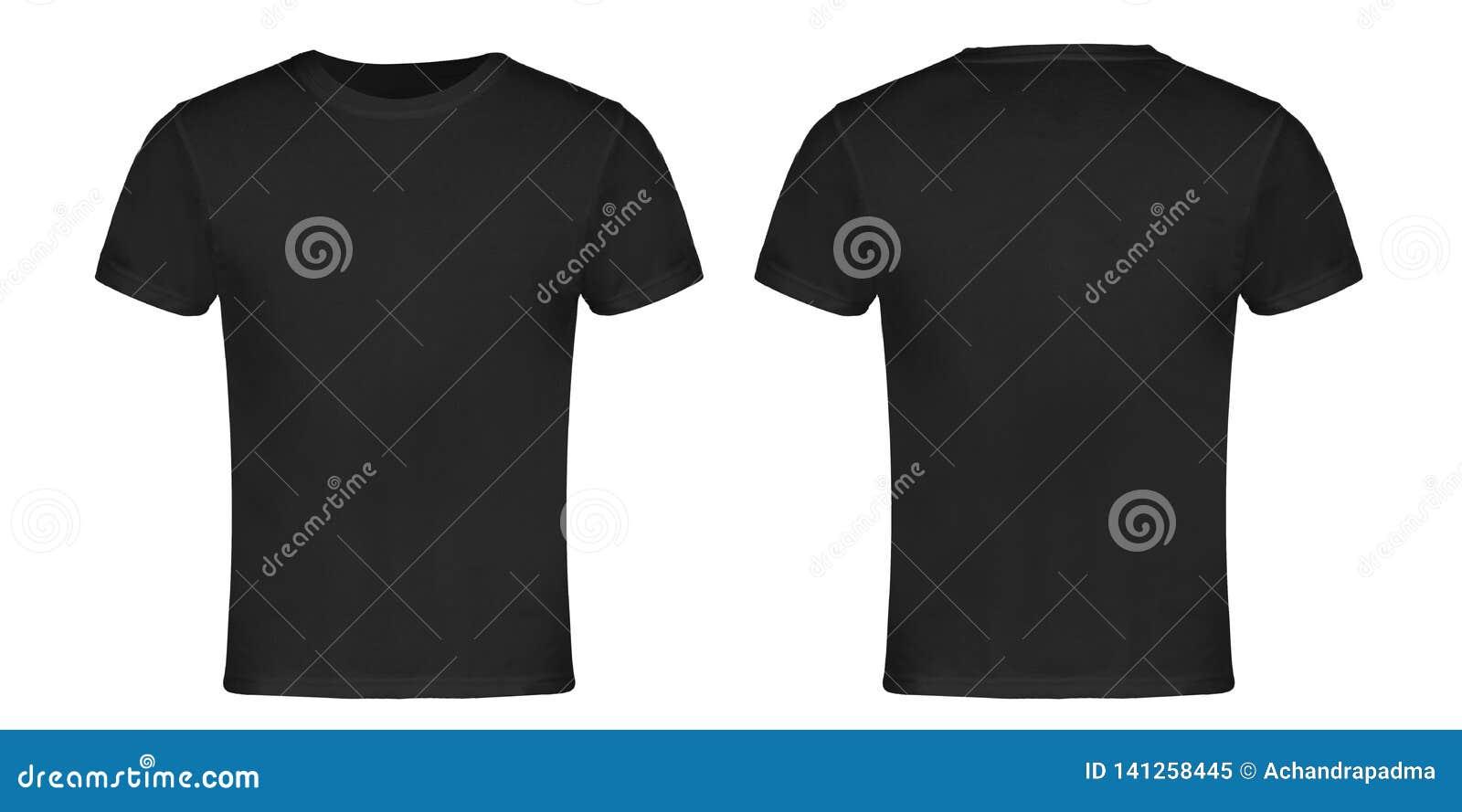 Parte dianteira e parte traseira do t-shirt de Gray Blank