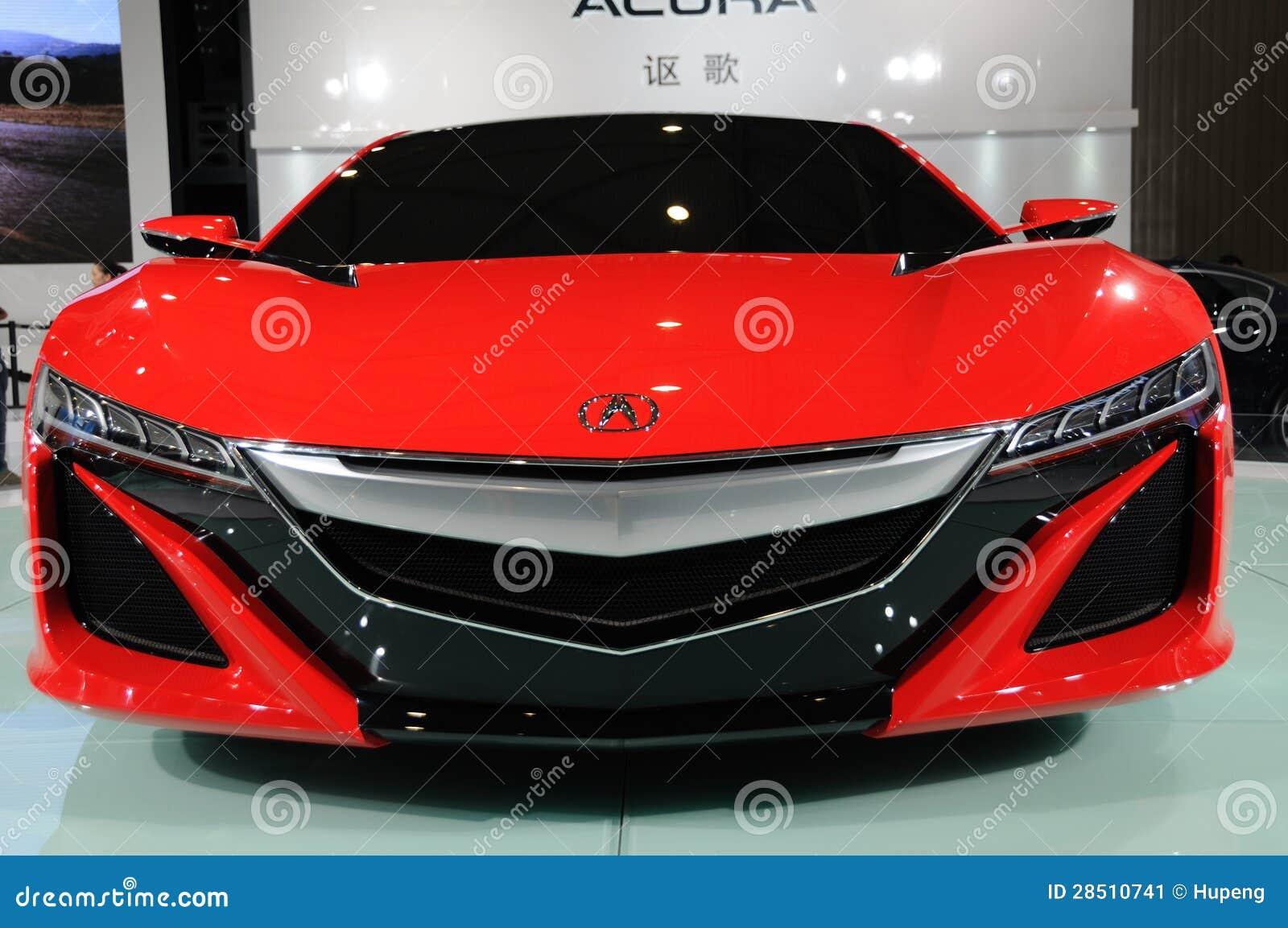Parte dianteira vermelha do conceito de Acura NSX