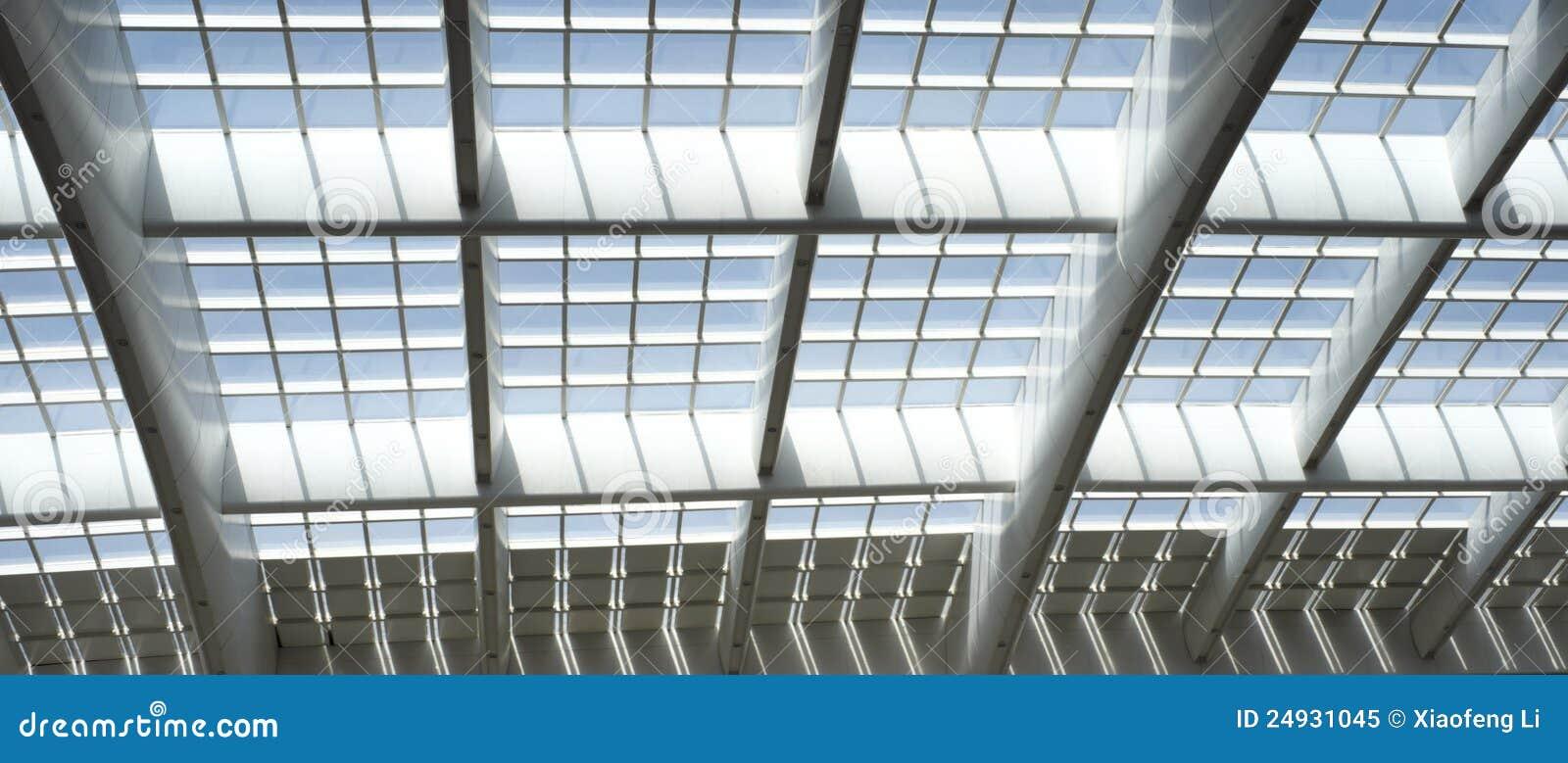 Parte do teto da arquitetura da estação de comboio