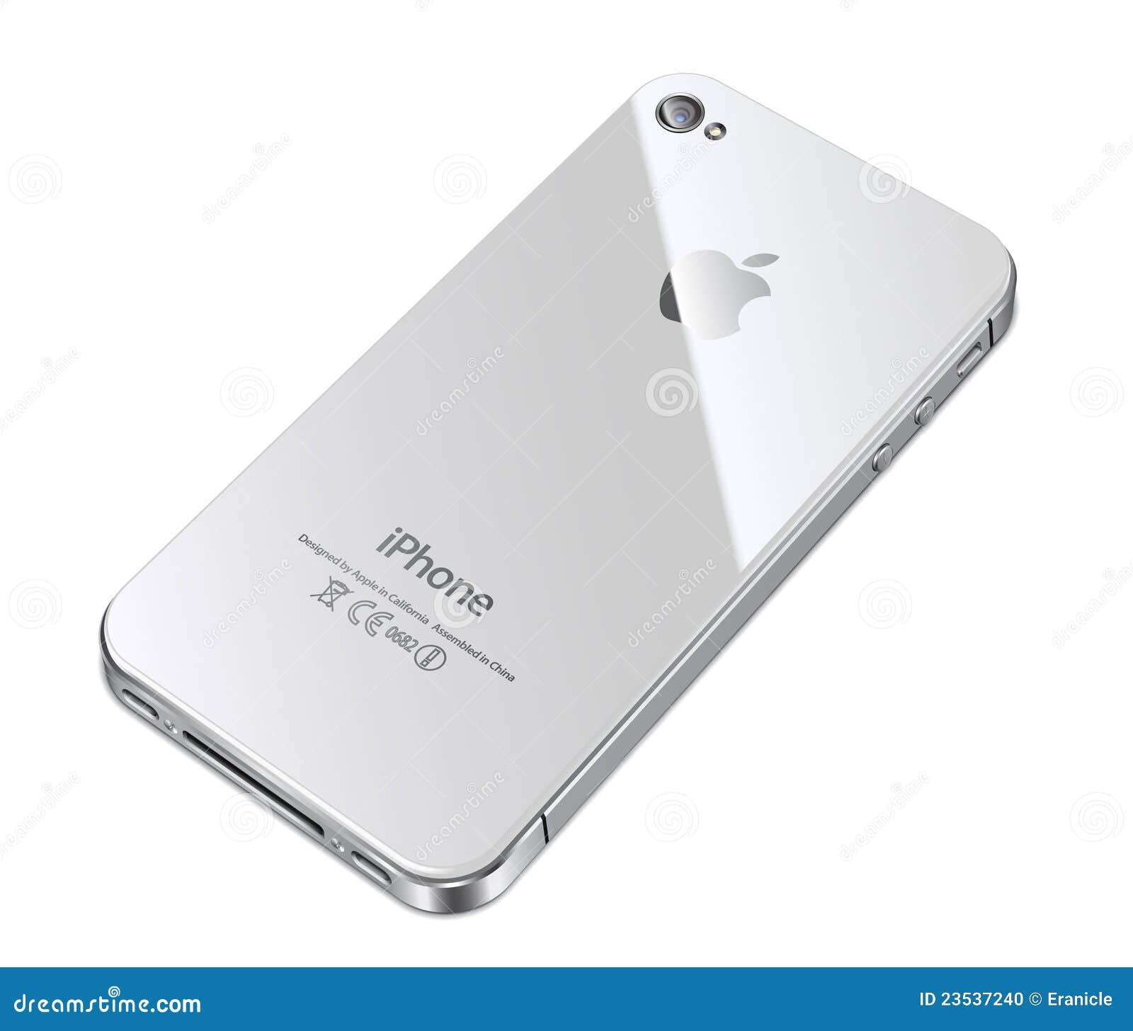 7c7da114f2f Parte Posterior Del Blanco Del Iphone 4S De Apple Imagen editorial ...