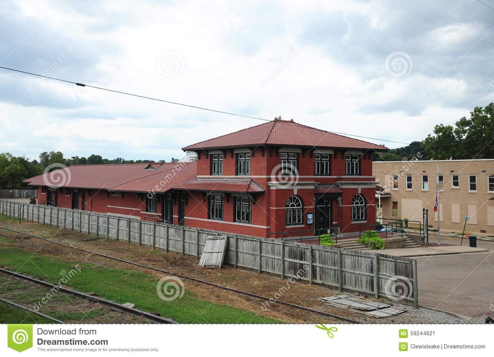 Parte posterior del depósito de tren de centro cultural del delta, Helena Arkansas